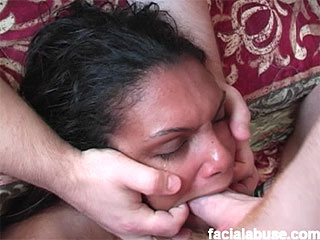 Exotic tramp is face fucked and splattered with sperm