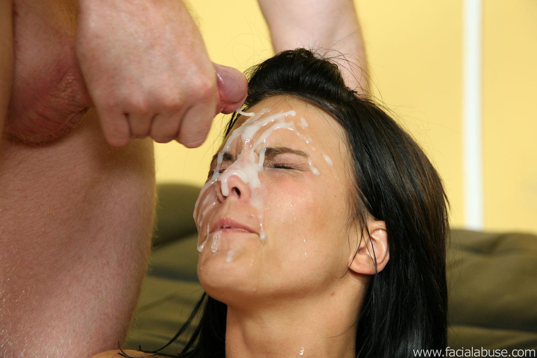 Facial abuse cumshots
